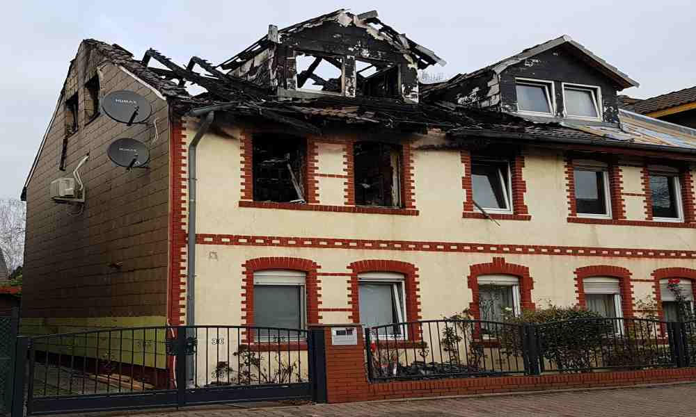 verbrannte Immobilie